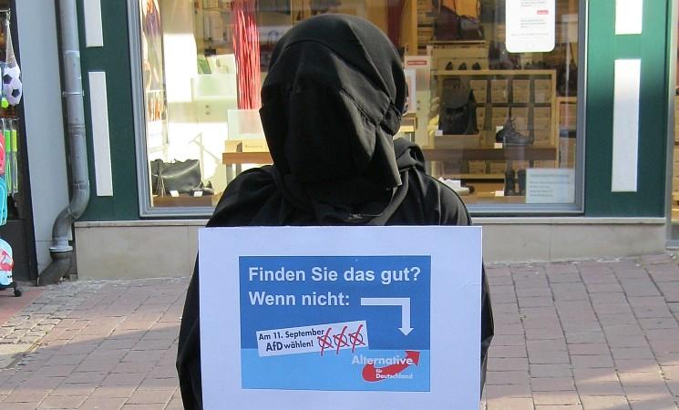 Burka in Wolfenbüttel