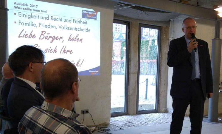 Video aus Wolfenbüttel. Vortrag von Jörn König, Stellvertretender Vorsitzender des AfD Landesverband Niedersachsen
