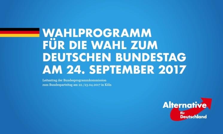 Wahlprogramm der Alternative für Deutschland