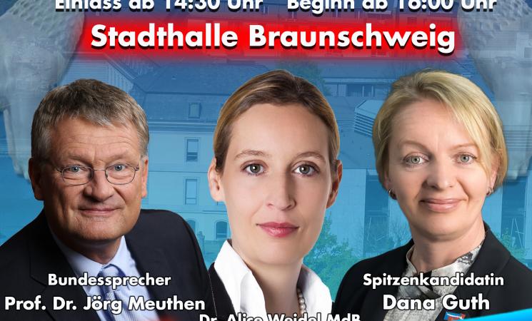 Jörg Meuthen & Alice Weidel am 7.10. in der Stadthalle Braunschweig