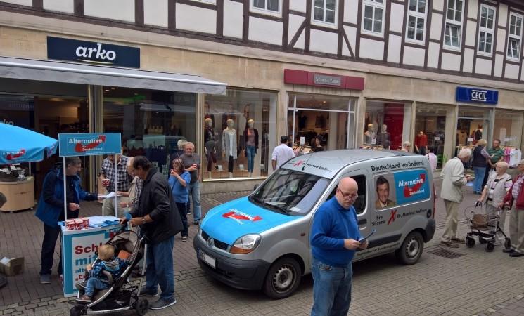 Unser Wahlkampfstand in Wolfenbüttel