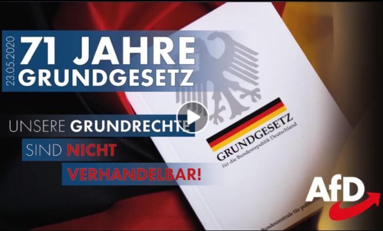 71 Jahre Grundgesetz - Freiheit statt Zwang!